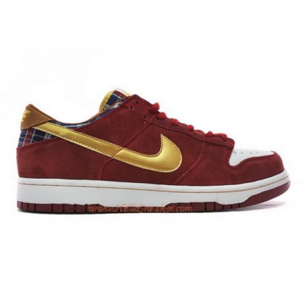 buy online big discount later 304292-672 Nike SB Dunk Low Ron Burgundy Anchorman Red Metallic ...