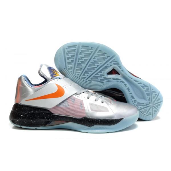 huge discount eb539 960a6 520814-001 Nike Zoom KD IV Galaxy Metallic Silver Total Orange Dark Grey  K14015