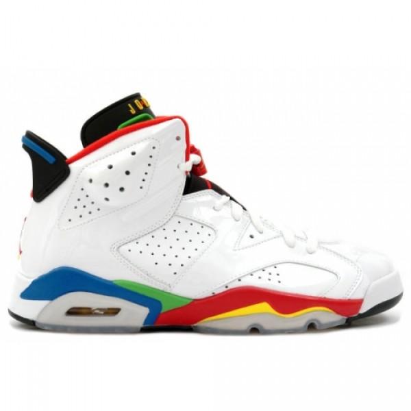 004dedc8fa2754 325387-161 Air Jordan 6 Retro Olympic Flag White Red Green Blue A06006