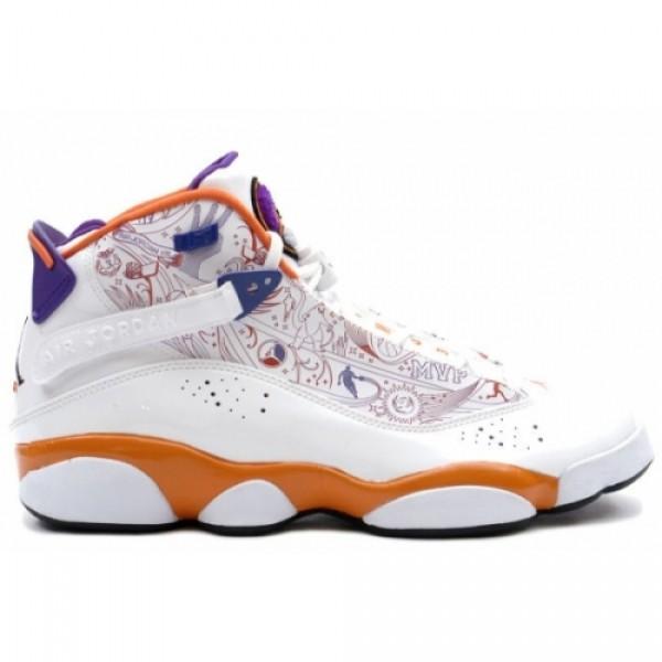 new product feb07 9c7e7 322992-101 Air Jordan 6 Rings phoenix white varsity purple orange A6R002