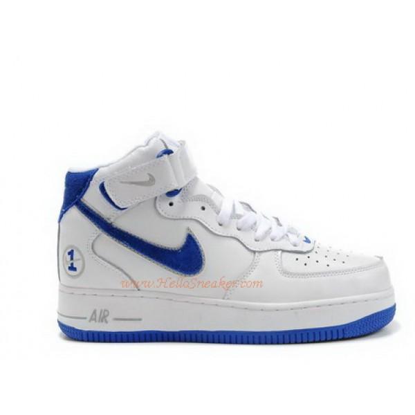 best service 600c2 c25b9 306352-146 Nike Air Force 1 Mid Matrix White Grey Blue C04007