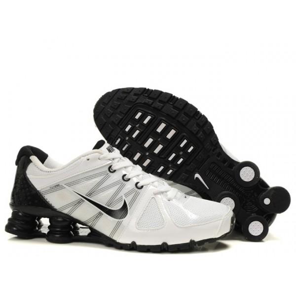 369c489fb0ce 438684-055 Nike Shox Agent White Black J01008