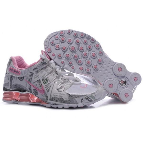 314561-109 Nike Shox NZ Grey Pink J04009 d8b95da00